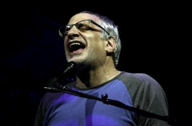 Steely Dan singer Donald Fagen performs at the Perfect Vodka Amphitheater.