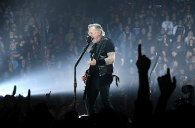 James Hetfield of the band Metallica performs at Bridgestone Arena on January 24, 2019