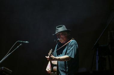 Neil Young performs on the second night of Desert Trip at the Empire Polo Club