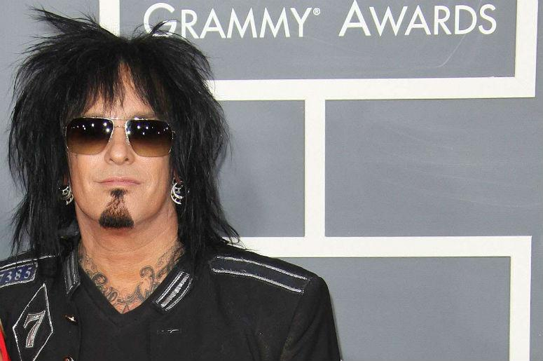 Nikki Sixx arrives to the 53rd Annual GRAMMY Awards in Los Angeles, California.