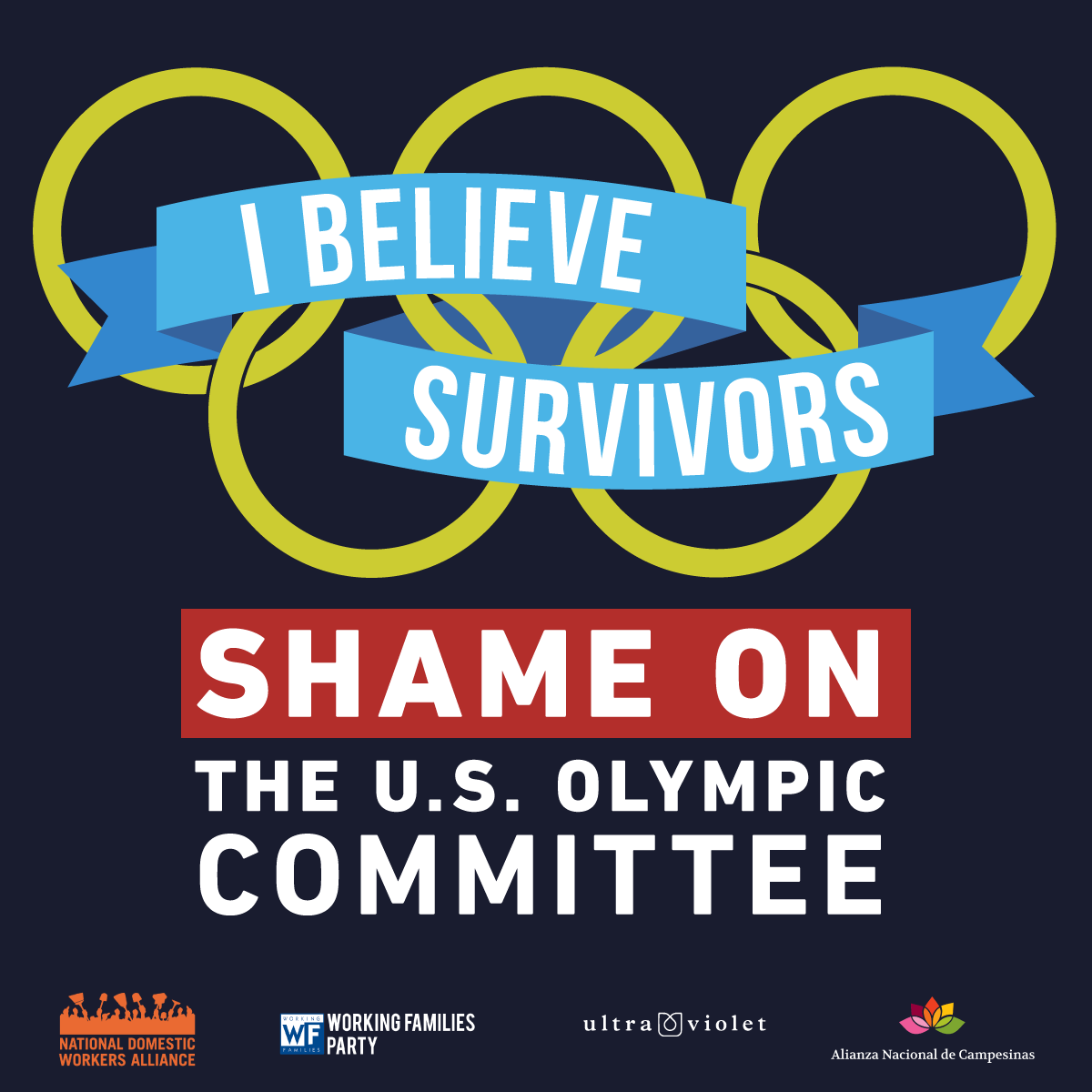 Show solidarity with survivors and athletes