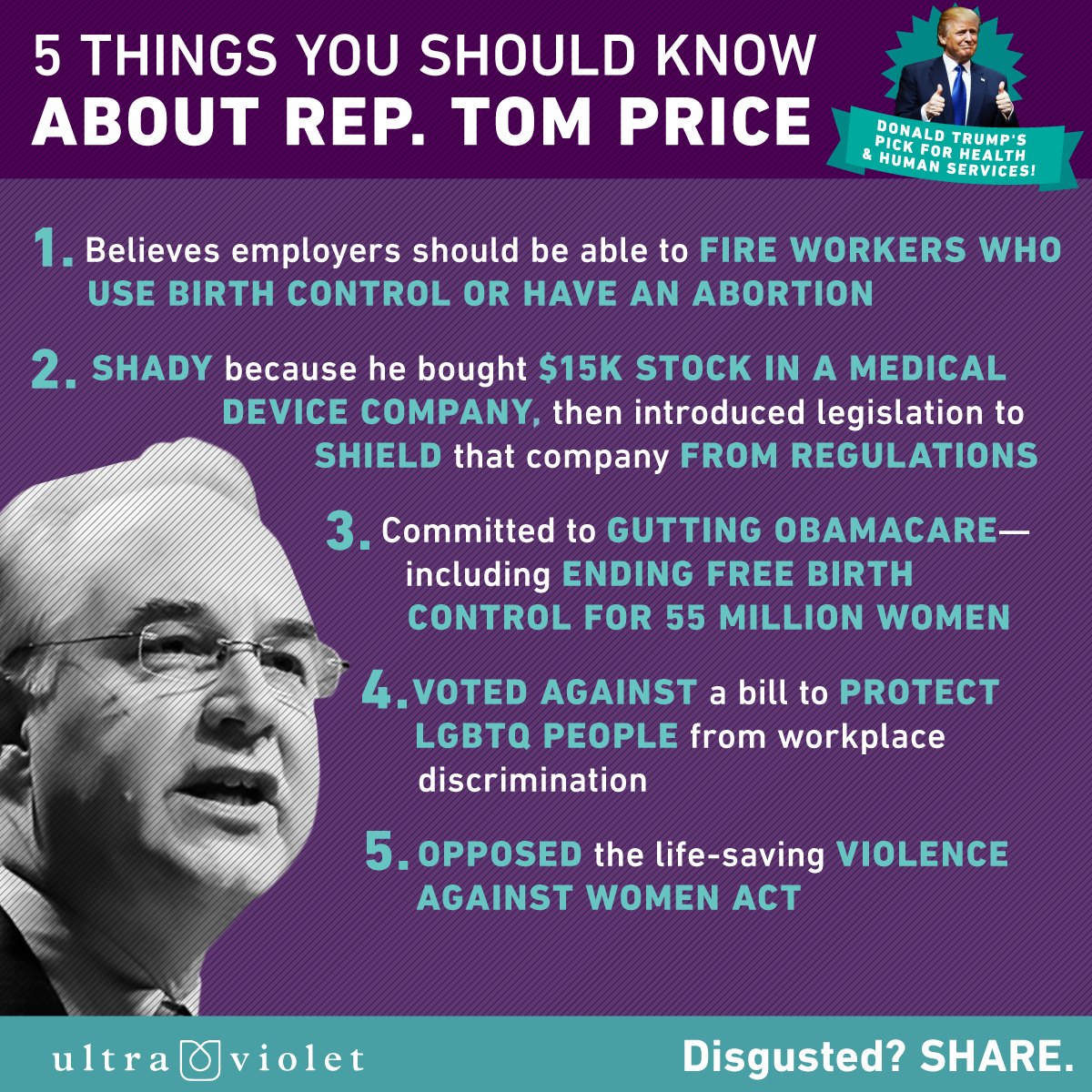 5 Things You Should Know About Rep. Tom Price