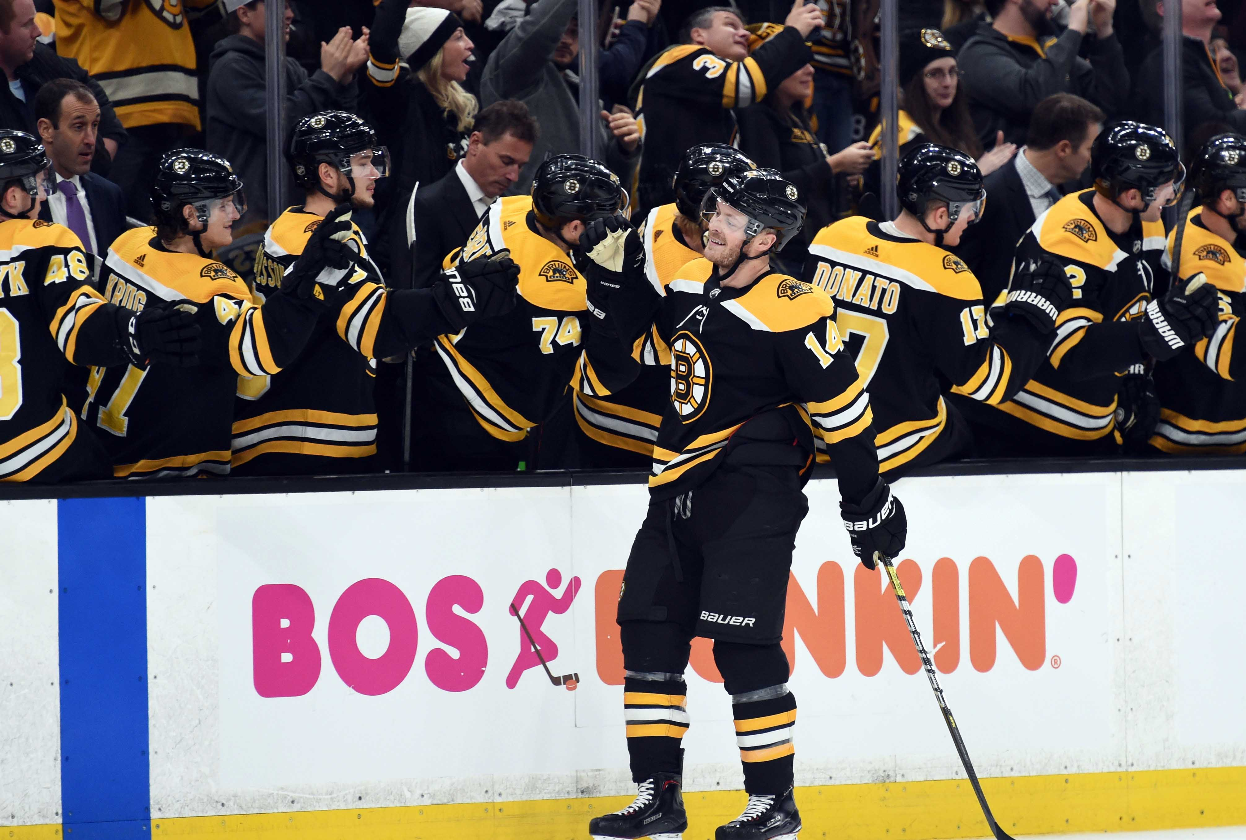 58c90b680 One day after the death of his grandfather Bruins forward Chris Wagner  scored a crucial goal in a big win