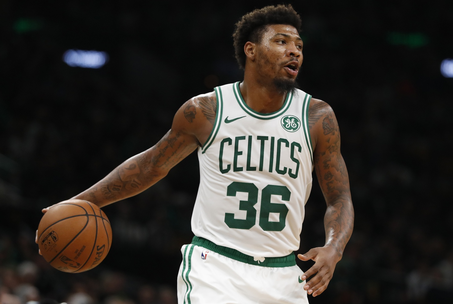 Marcus Smart talks about his injury (oblique), far from setting a return date