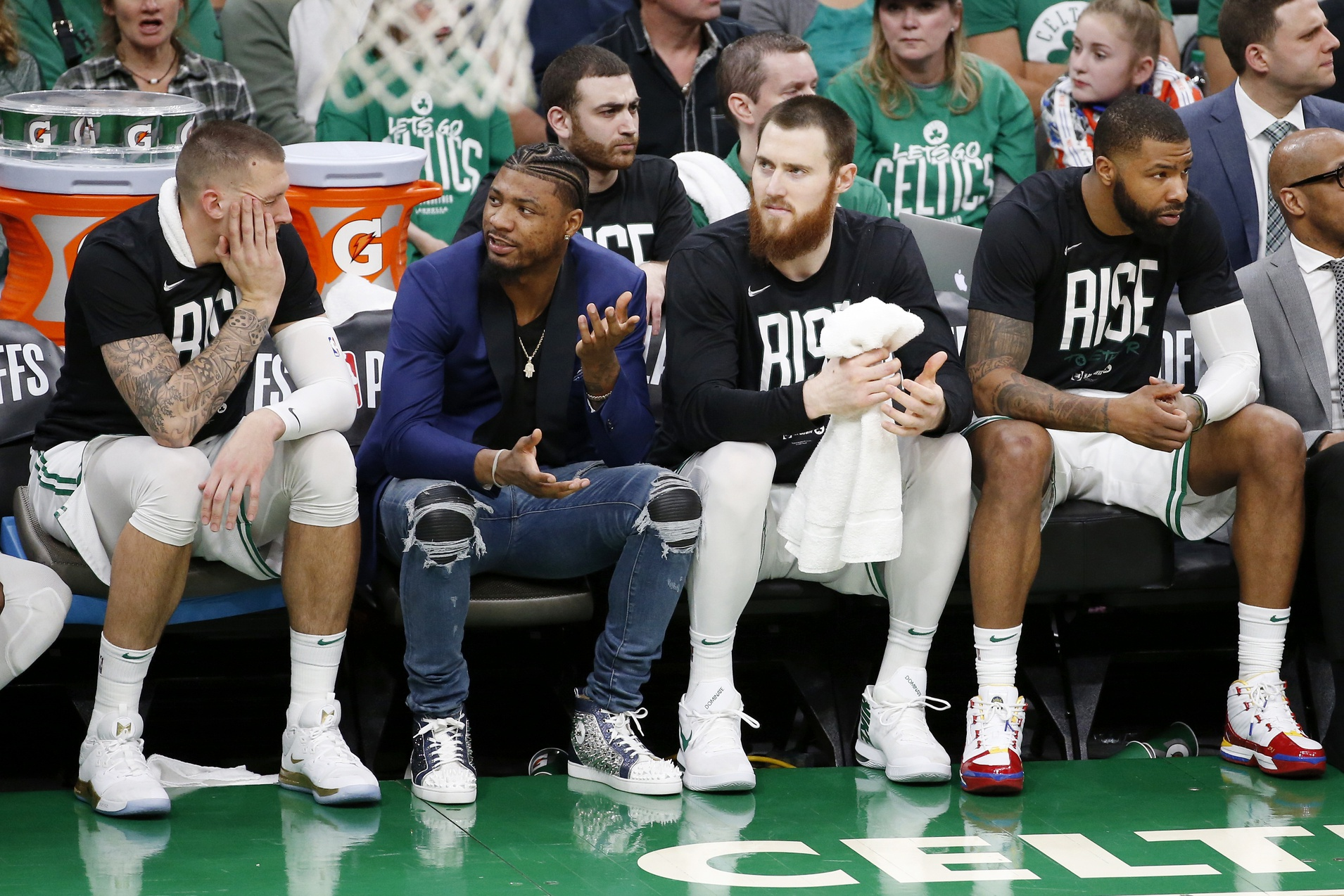 Marcus Smart (torn oblique) is still weeks away from running