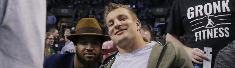 Summer of Gronk punctuated by shark swim