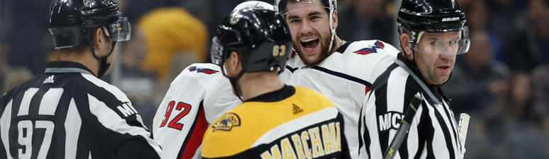 Marchand declines fight, war of words with Capitals' Eller