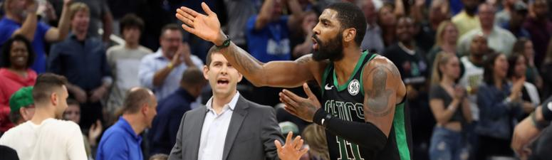 Kyrie Irving yells at Gordon Hayward after potential game-winning play