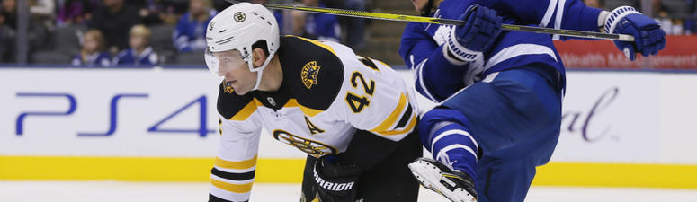 Bruins' Backes keeping positive outlook ahead of Canadiens tilt