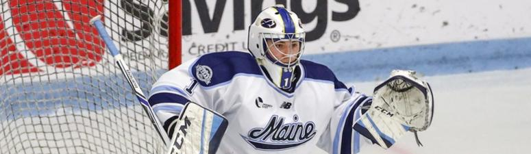 Bruins goaltender Jeremy Swayman opened eyes at Maine, and one day he plans to do so in Boston, too