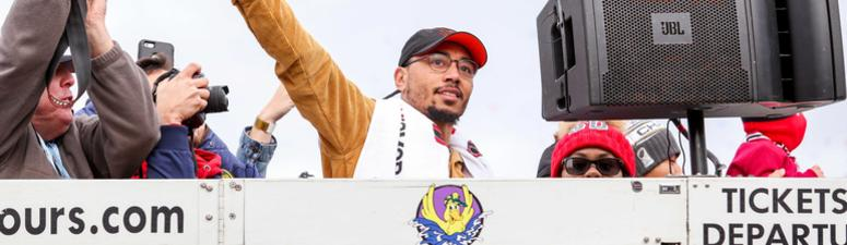 Watch: Mookie Betts surprises kids with new bikes