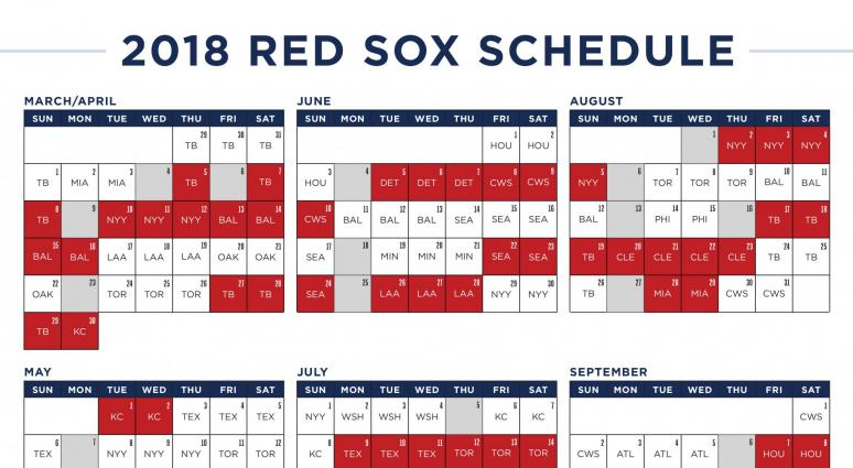 The Red Sox 2018 Schedule Is Wacky Weei