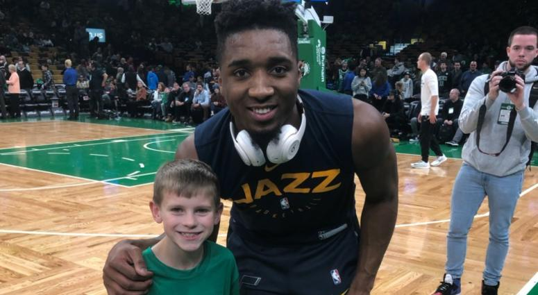 The story behind the kid who rebounded for Donovan Mitchell