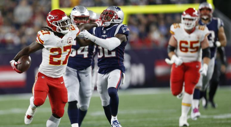 b734a87a8 Chiefs running back Kareem Hunt  I wish we could play Patriots right now