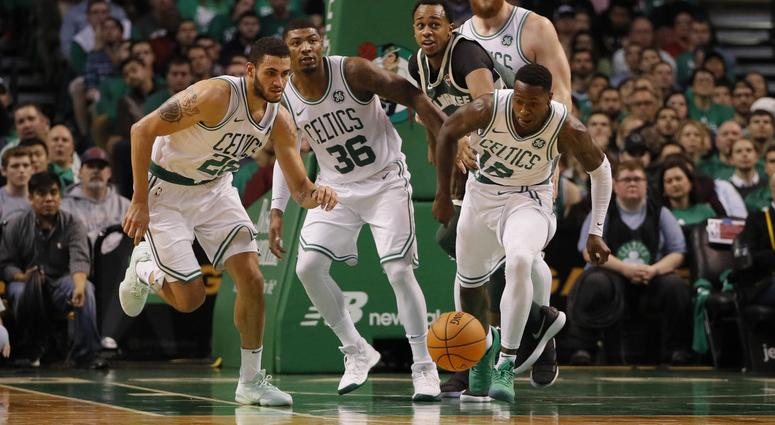 Terry Rozier and Marcus Smart have led the gang-rebounding effort for the Celtics.