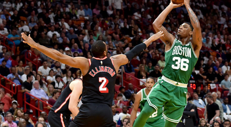 Celtics guard Marcus Smart isn't much of a shooter.