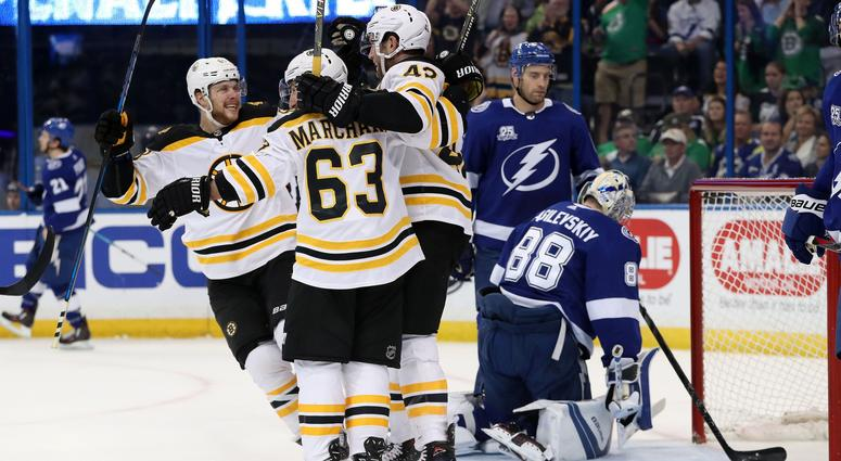 bruins 3 lightning 0 bruins let bolts know they re for real weei
