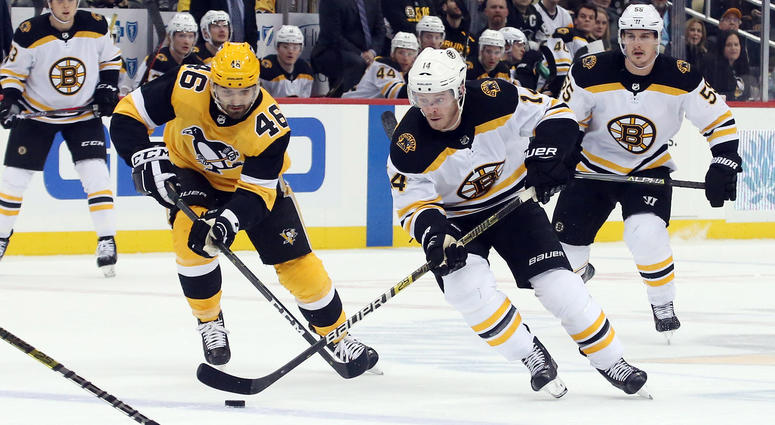 Rejiggered Bruins fourth line stands out in loss at Penguins