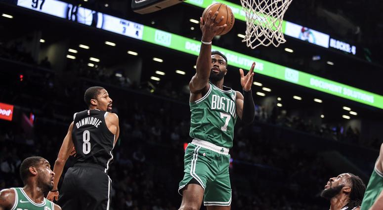 Jaylen Brown may have taken a shot at Kyrie Irving following Monday night's loss
