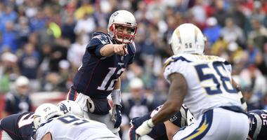 New England Patriots quarterback Tom Brady takes on the Los Angeles Chargers