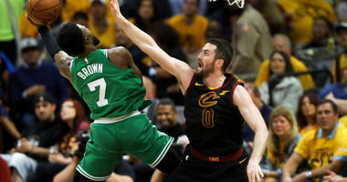 Jaylen Brown and Kevin Love
