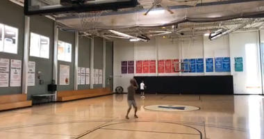 Watch: Chris Curtis jacks up a bunch of air balls in 3-point challenge