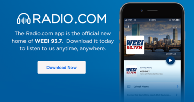 Download the Radio.com app, WEEI's new official home