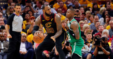 LeBron James and Terry Rozier