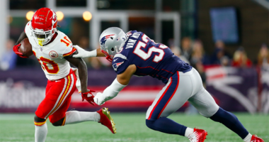 Rob Gronkowski reacts to fan throwing beer on Tyreek Hill: 'That's just a little bit too crazy'
