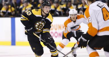 Could Danton Heinen see time on the Bruins' first line?