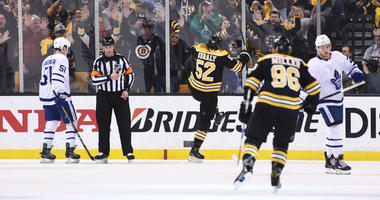 Bruins intrigued by Carolina's new post-win ritual