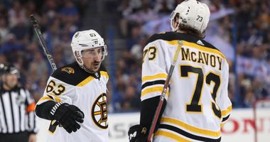 Brad Marchand on talk with Charlie McAvoy: 'It's not a big deal'