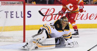 Rask's gaffes put Bruins in too deep a hole vs. Flames