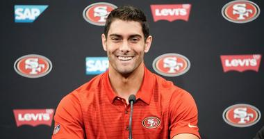 Jimmy Garoppolo discusses first offseason as member of 49ers, how his family home changed since trade from Patriots