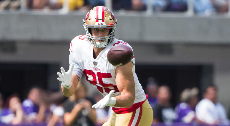 49ers tight end George Kittle