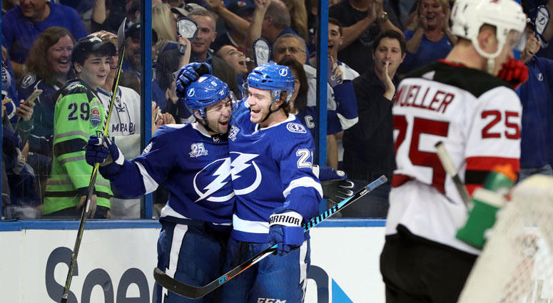 potent lightning display depth beat devils 5 2 in game 1 wfan