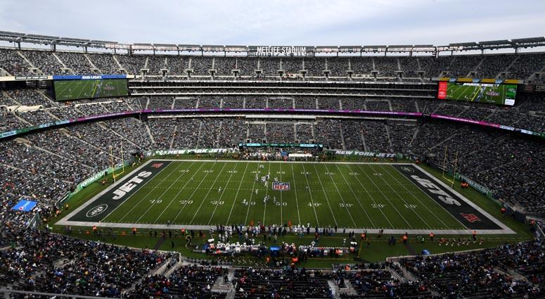 General overall view of MetLife Stadium during a game between the Los Angeles Chargers and New YorK Jets on Dec. 24, 2018.