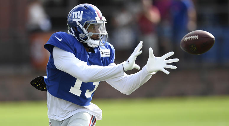 0a31e381c Giants wide receiver Odell Beckham Jr. catches a pass at training camp on  Aug.