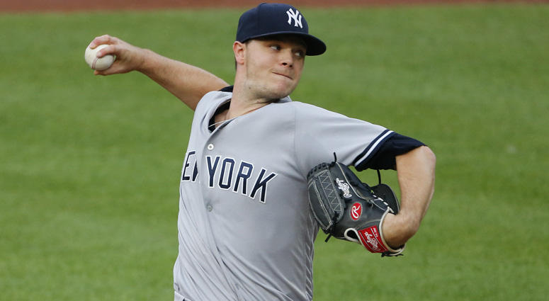 Yankees starting pitcher Sonny Gray pitches against the Baltimore Orioles at Oriole Park at Camden Yards in Baltimore.