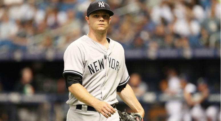 New York Yankees starting pitcher Sonny Gray at Tropicana Field in Tampa.