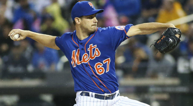 Seth Lugo pitches against the New York Yankees in the first inning at Citi Field.