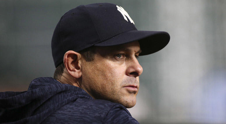 Yankees manager Aaron Boone