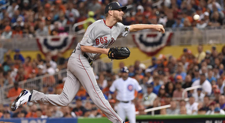 Chris Sale in the 2017 All-Star Game