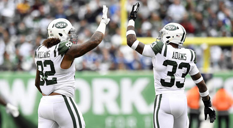 f71327d84db Jets defensive lineman Leonard Williams (92) and safety Jamal Adams
