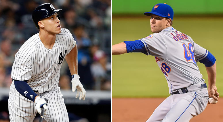 Aaron Judge and Jacob deGrom