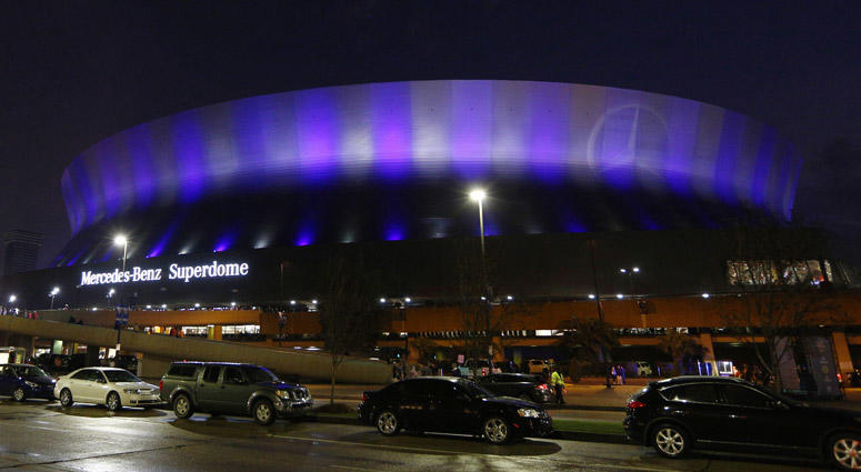 The Mercedes-Benz Superdome in New Orleans