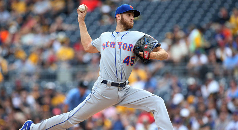 The Mets' Zack Wheeler delivers a pitch against the Pittsburgh Pirates on July 29, 2018, at PNC Park.