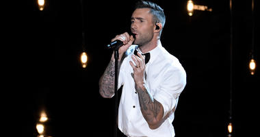 Feb 22, 2015; Los Angeles, CA, USA; Adam Levine performs a Best Song nominee Lost Stars from the motion picture Begin Again at the 87th annual Academy Awards at the Dolby Theatre. Mandatory Credit: Robert Deutsch-USA TODAY