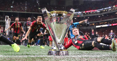 Atlanta United celebrate winning MLS Cup