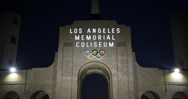 May 1, 2016; Los Angeles, CA, USA; General view of the Olympic torch and Los Angeles Memorial Coliseum peristyle. Mandatory Credit: Kirby Lee-USA TODAY Sports